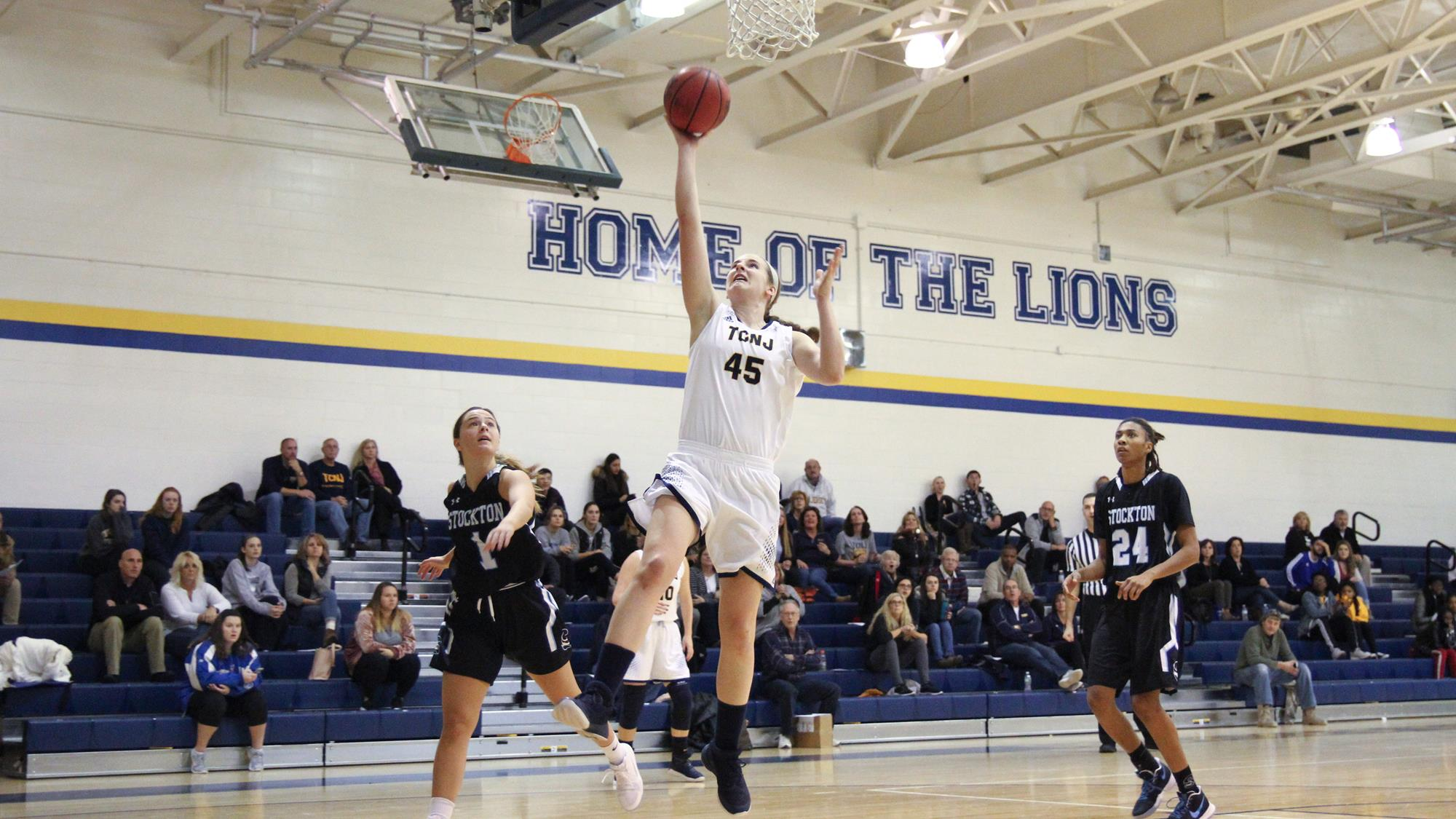 lions defeat pioneers in overtime the college of new jersey